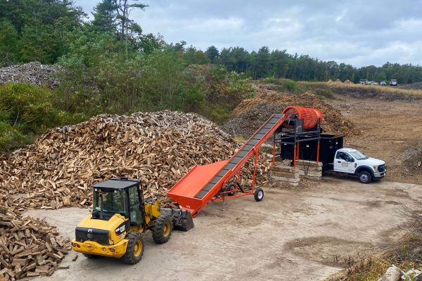 Firewood land clearing Equipment on Cape Cod