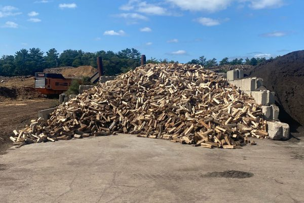 Large stacked of Cape Cod firewood
