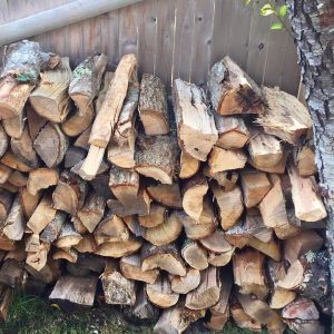 Stack of firewood delivered on Cape Cod