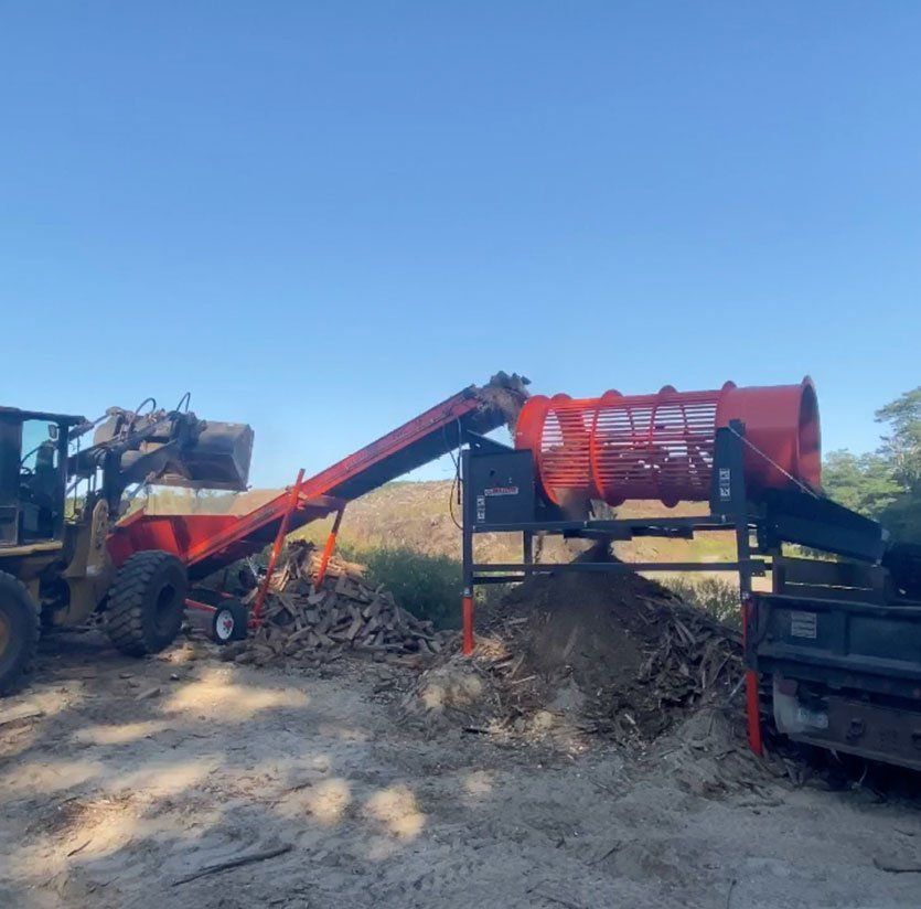 Firewood land clearing Machinery on Cape Cod